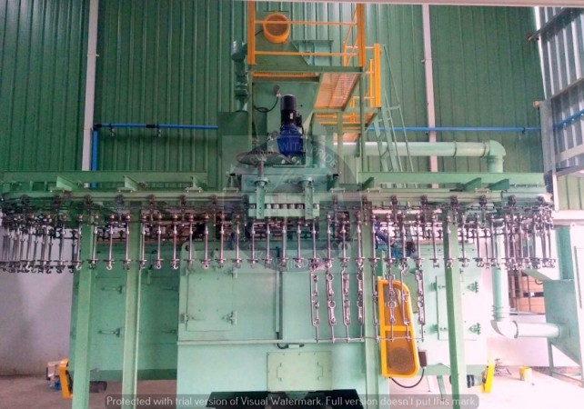 CONTINUOUS HANGER SHOT PEENING EQUIPMENT