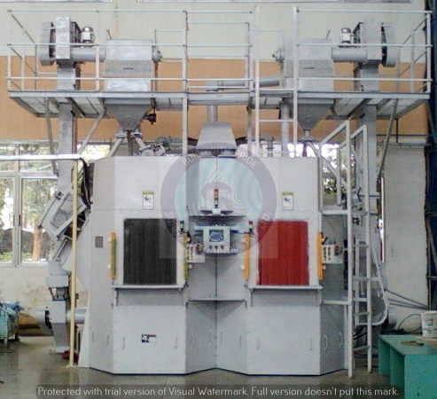 DOUBLE CHAMBER SHOT PEENING MACHINE