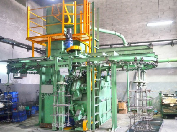 OVERHEAD MONORAIL CONVEYOR TYPE SHOT BLASTING MACHINE