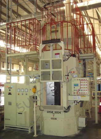 ROTARY HANGER TYPE SHOT BLASTING MACHINE