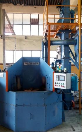 INDEXING TYPE AIR PEENING MACHINE FOR 2 WHEELERS GEARS