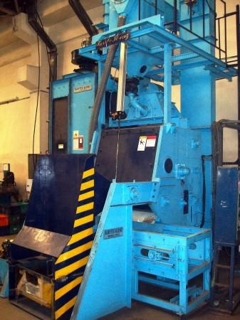 Tumblast shot peening machine